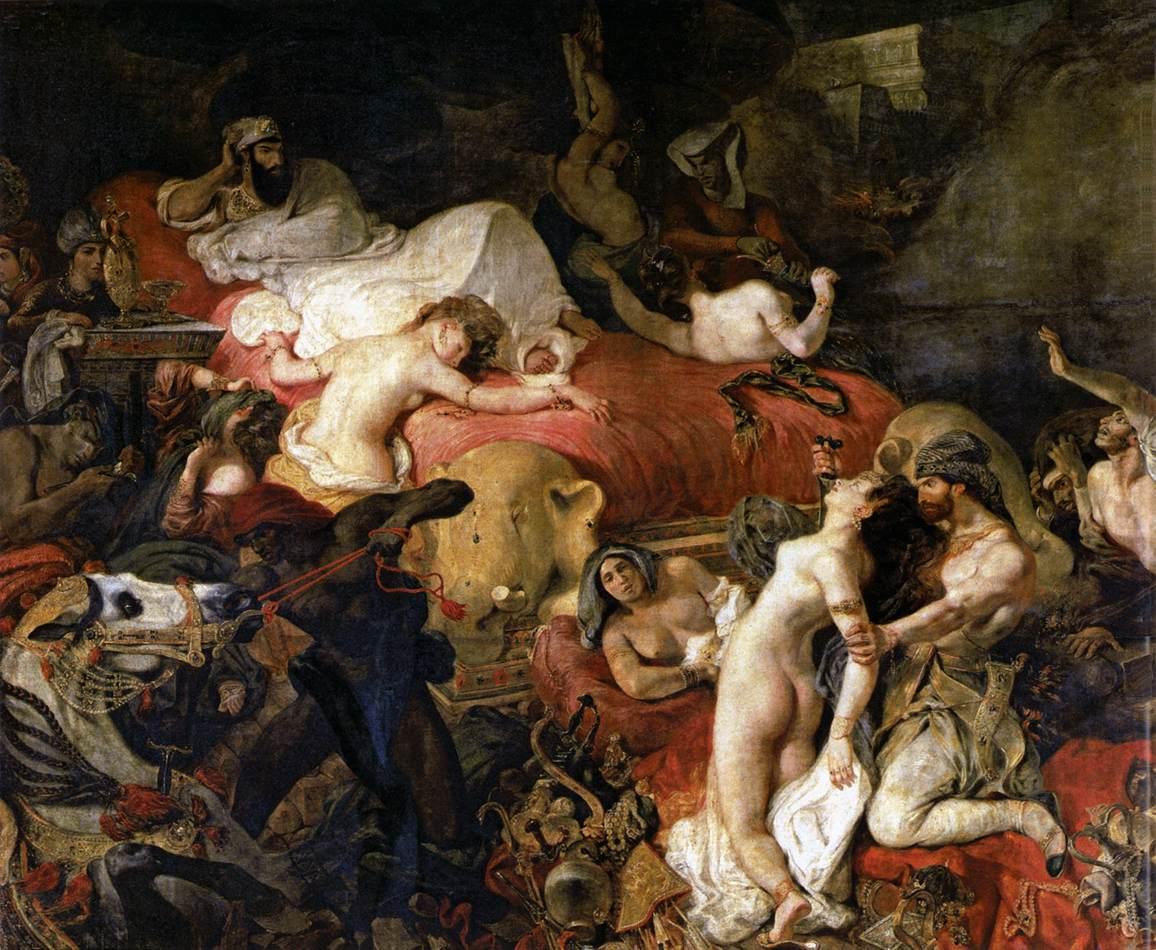 La Mort de Sardanapale, de Delacroix