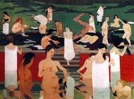 """Le bain au soir d""""été -1898"""
