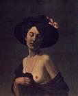 Femme au chapeau noir - 1908