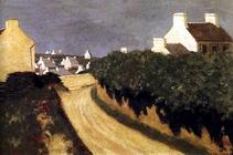 Le chemin à Locquirec - 1902