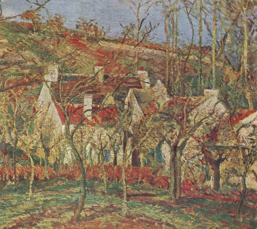 Camille pissarro les toits rouges 1877 for Camille pissarro oeuvre